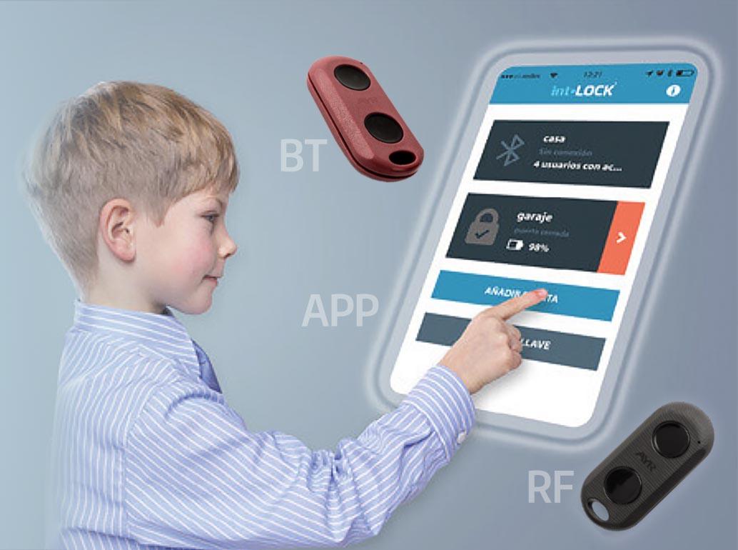 Încuietoare inteligentă invizibilă • Int-Lock • controlabilă din buton, din aplicație, din telecomandă cu bluetooth sau radiofrecvență
