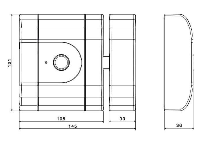 Încuietoare inteligentă invizibilă • Int-Lock • dimensiuni