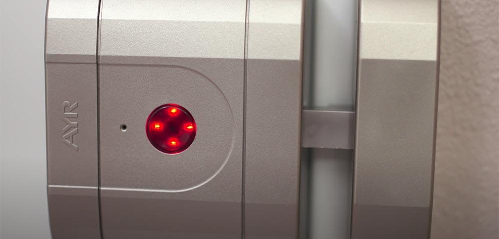 """Încuietoare inteligentă invizibilă • Int-Lock • confirmare LED a pozitiei """"închis"""""""