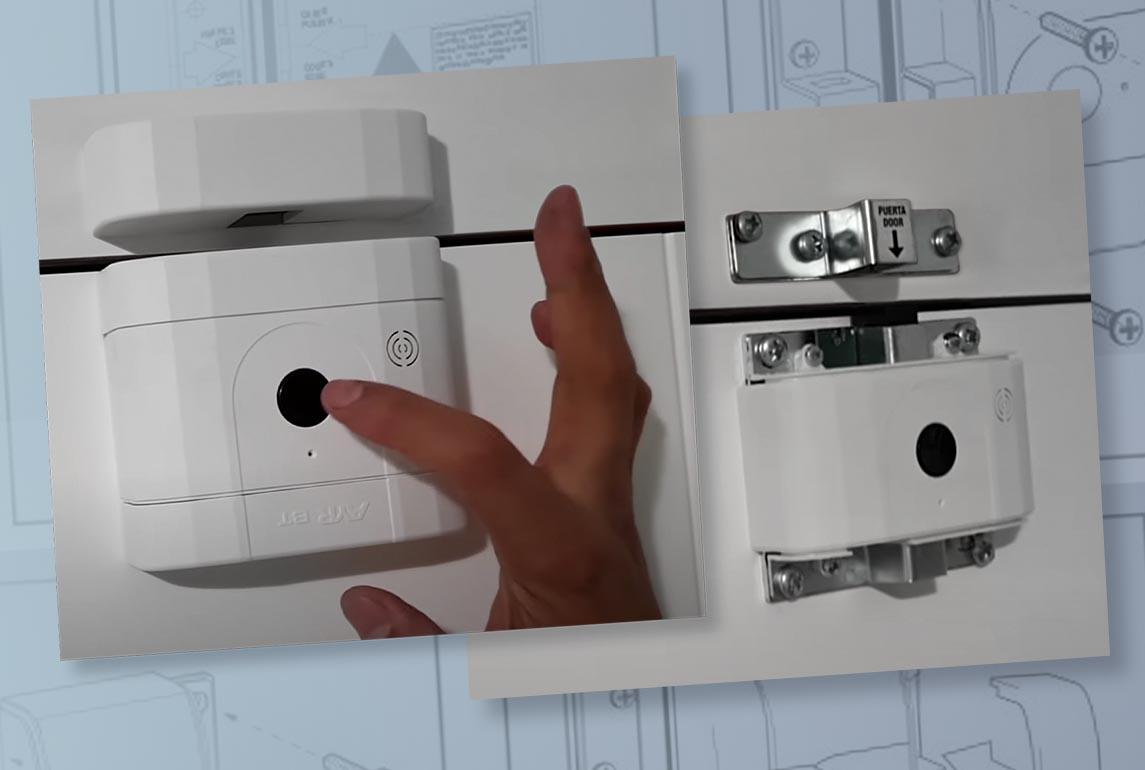 Încuietoare inteligentă invizibilă • Int-Lock • ușor de montat • poziționare variată • invizibilă din exteriorul ușii